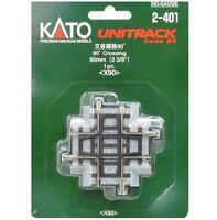 Kato 2-401 Intersection / Crossing Track 60mm 90° - HO
