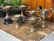 Collection Vintage Old 1960s/70s Silver Plated Trophy Cups - The Whitmore/Guill