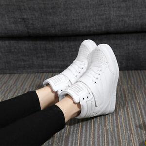 Fashion Hidden Wedge Heel Women's Casual High Top Sport 2021s Running Shoes