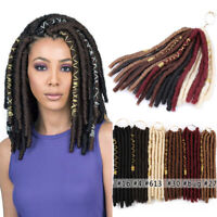 12'' Short Thick Locs Goddess Faux Locs Crochet Twist Braiding Hair Extensions