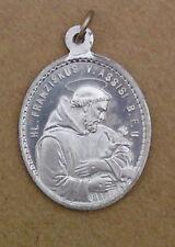 Pilger Medaillon - Franz von Assisi / Antonius von Padua - (AL40)