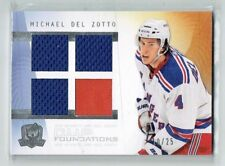 09-10 UD The Cup Foundations  Michael Del Zotto  /25  Quad Jerseys