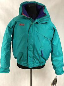 Columbia Men's Calpine Interchange Jacket Mountain Teal/Purple/red SzM NWT