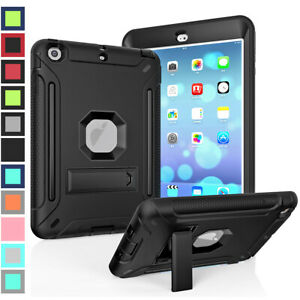 Silicone Rubber Bumper Shockproof Hard Stand Case Cover For iPad mini 1 2 3 4 5
