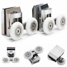 2Pcs 23mm Double Sliding Shower Door Rollers Runners Wheels Bottom Replacement
