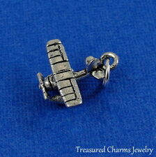 Silver Seaplane Charm - Floatplane Water Plane Aircraft Boat Pendant NEW