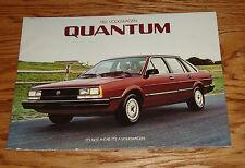 Original 1984 Volkswagen VW Quantum Sales Brochure 84