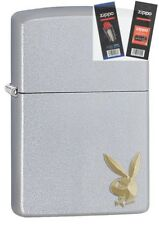 Zippo 29603 Playboy Bunny Logo Lighter with *FLINT & WICK GIFT SET*