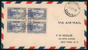 Mayfairstamps LEbanon 1938 beit Eddine Block to Us Airmail cover wwo1843