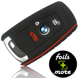 Auto Schlüssel Hülle Silikon BMW Anhänger Schutz Cover Etui Zubehör Schwarz Rot