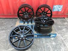 "22"" NEW SPYDER BLACK ALLOY WHEELS BENTLEY MERC ML GL R CLASS GLC GLA 5X112"