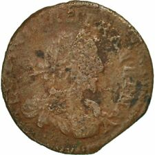 [#490483] France, Louis XIII, Double Tournois, 1637, B+, Cuivre, CGKL:512