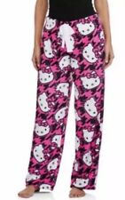 Hello Kitty Small 4-6 Womens Pajama Minky Super Plush Soft Sleep Pants Bottoms