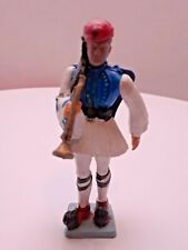 Vtg Greek Evsona Collectible Soldier Toy Aohna Athens 1960's Made in Greece Rare