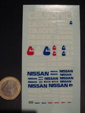 DECALS 1/43 LOGOS NISSAN / CALSONIC - T355