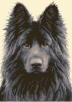 BLACK GERMAN SHEPHERD ALSATIAN dog - Counted cross stitch kit