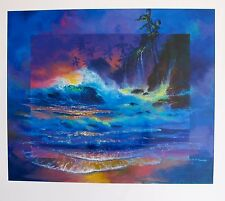 "JAMES COLEMAN ""HAWAIIAN AFTERGLOW"" Serigraph Art"