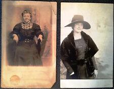 RPPC Post Card - Female Edwardian ladies c 1900 Unposted