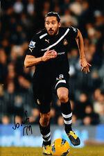 Newcastle United F.c Jonas Gutierrez mano firmado 11/12 Foto 12x8 2.