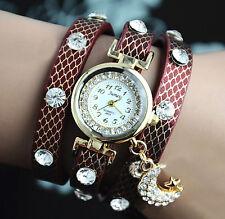 axy® Wickelarmbanduhr Serie 8-Strass Damen-Armbanduhr-Wickelarmband-Watch