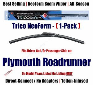 (Qty 1) Premium NeoForm Wiper Blade fits 1971-1974 Plymouth Roadrunner 16160