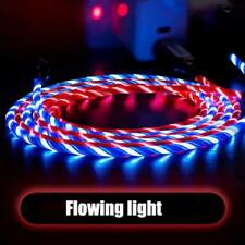 LED USB Data Sync Charger Flowing Glow Light Up Cable Wire For iPhone Android US