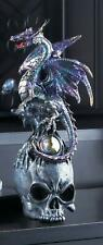 Dragon on Top of Skull Statue Figurine - Myth Legend Decor