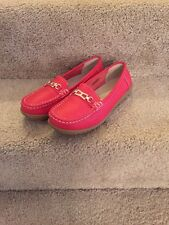 Ultimate Comfort Women's  Orange Leather Loafers  Size 6 M