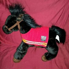 Wells Fargo MIKE Legendary Pony Black Soft Fur 15in Horse Red Cloth Saddle 2016