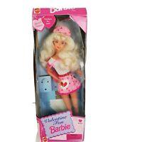 1996 Mattel Special Edition Valentine Fun Barbie Doll pink hearts
