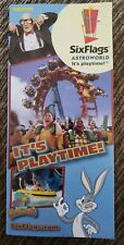 2005 Six Flags Astroworld Amusement Theme Park Brochure Map Guide Pamphlet