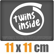 Twins Inside 11 x 11 cm JDM Decal Sticker Aufkleber Racing Die Cut