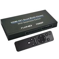 4x1 HDMI 4 Channel Quad Multi-Viewer PIP Seamless Switch Switcher Split Screen