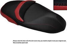 Rojo oscuro y negro Custom encaja Piaggio Beverly 350 Sport Touring cubierta de asiento