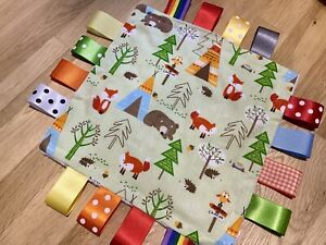 WOODLAND AUTUMN BABY/TODDLER TAGGY BLANKET/COMFORTER/GIFT ****MANY OPTIONS*****