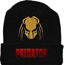 Predator Wool Hat Black Beanie Knit Helmet Logo Aliens vs Arnold Jungle AVP