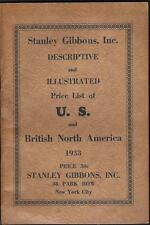 Gibbons 1933 Postage stamp Illust Price List US & British 64p booklet Free Ship