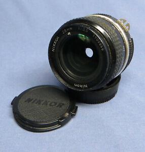 Vintage Nikon Nikkor 28mm f3.5 Ai Lens for Nikon F Mount GC