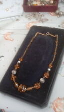 glass necklace. Old antique