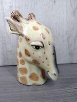 Vintage FF Japan Handpainted Giraffe Statue Unique Ceramic Free Shipping