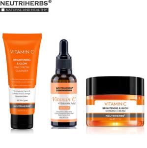 Neutriherbs Vitamin C Serum Face Cleanser Moisturizing Anti Aging Skin Care Set.