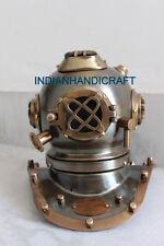 Nautical Black Antique Mini Diving Diver Helmet Steel & Brass U.S Navy Size 6''