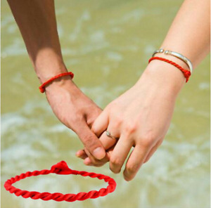 2pcs Red Lucky Bracelet Couple Adjustable Handmade Thread String Fashion Gifts