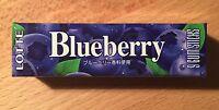 "Lotte, Chewing Gum, ""Blueberry"" 9 gum sticks, Japan Long Seller, Candy"