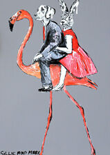 GILLIE AND MARC. Direct from artists. Authentic Art Print 'Flamingo' 'Ride'