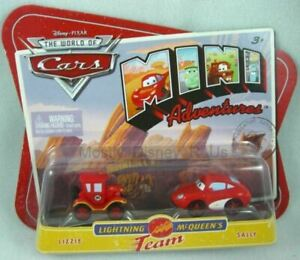 New Disney Pixar Mini Adventures Lizzie & Sally Mcqueen's Team Diecast Vehicle