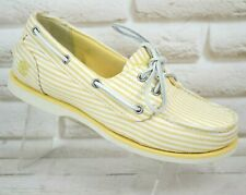 TIMBERLAND CANVAS Womens Boat Deck Casual Shoes Moccasins NEW Size 5 UK 38 EU