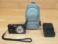 Genuine Sony Cyber-Shot (DSC-W350) Black 14.1 MP Digital Camera w/ Charger