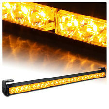 "Yellow 24 LED 27"" Auto Emergency Warning Tow Traffic Advisor Flash Strobe Light"