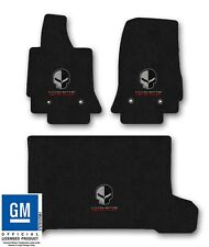 Corvette C7 Carpet Floor Mat 3pc Set with Jake & Corvette Racing Logo- Dark Grey